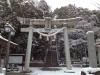 長久手 景行天皇社(雪景色)